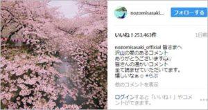 佐々木希 インスタ 削除 桜