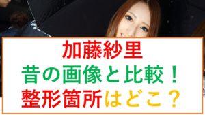 加藤紗里の昔と今の画像比較!高須院長も認めた整形箇所はどこ?