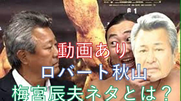 動画]ロバート秋山の梅宮辰夫ネタとは?お面着用で食事もできる?!