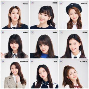 NiziUの9人でのメンバー画像