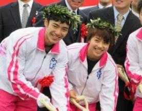 村上茉愛さんと白井健三さん